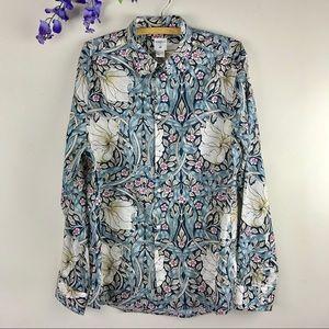 H&M Morris & Co. Floral Button Down Shirt